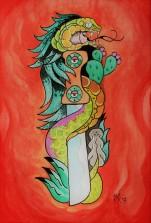 El Machete de Quetzalcoal por Mushroomiket