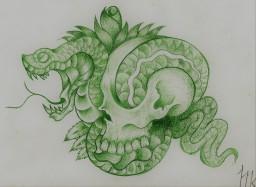 La muerte y la Serpiente por Mushroomike