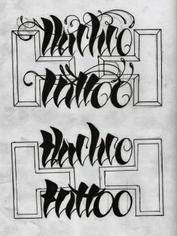 Lettering para el studio de Tlachco Tattoo en Taxco Guerrero Mexico
