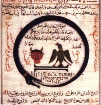 uroboros-ouroboros-egipcio-jeroglifico-copiado-del-libro-de-alquimia-de-abu-al-qasim-al-iraqi