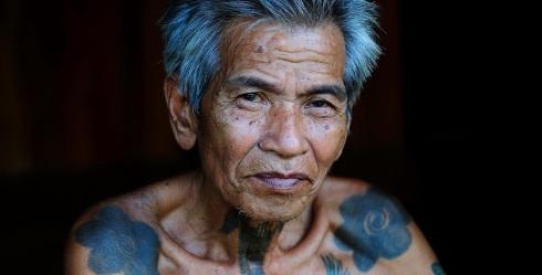 borneo tattoo old man